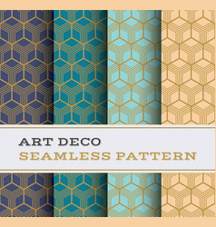 art deco seamless pattern 21 vector image