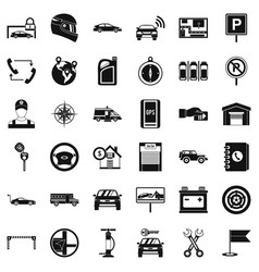 Auto service icons set simple style vector