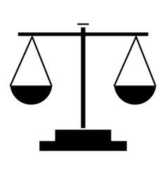 balance justice symbol vector image vector image