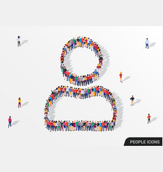 big group people standing in a user sign all vector image