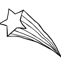 Black and white falling star vector