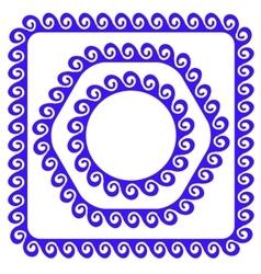 Blue Ornamental Frames vector