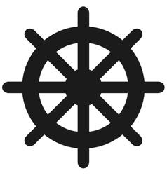 boat rudder icon vector image