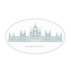 Budapest stamp - hungarian parliament building vector