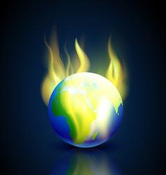 Burning earth vector