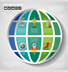 business concept with 7 options parts steps or vector image