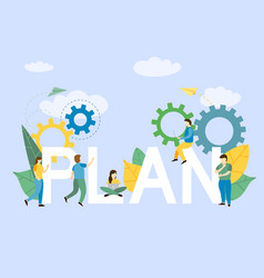 business plan background with freelance vector image