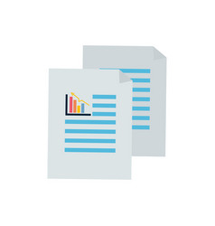 business statistics strategy data documents vector image