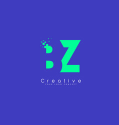 Bz letter logo design with negative space concept vector