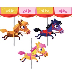 cartoon carousel horse vector image
