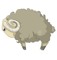 cartoon character sheep vector image