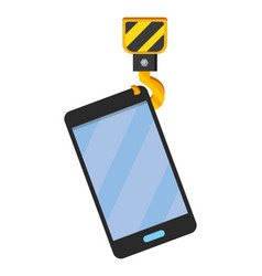 cellphone with crane hook vector image