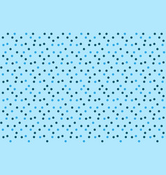 christmas background snow blue dots polka vector image