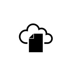 cloud storage document flat icon vector image