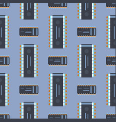 computer ic chip template microchip seamless vector image vector image
