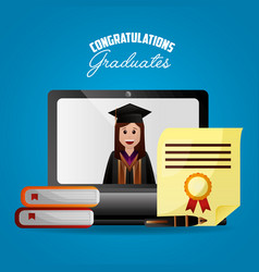 Congratulations graduation card vector