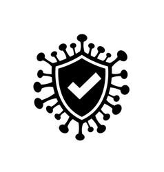 covid19-19 with shield icon vector image