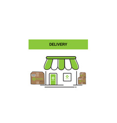 delivery logo icon concept vector image