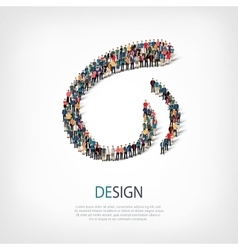 design people sign 3d vector image