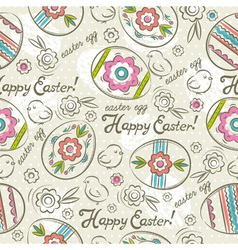 Easter Patterns easter eggs chicks vector image