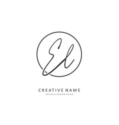 El initial letter handwriting and signature logo vector