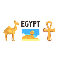 Famous symbols ancient egypt sphinx statue vector