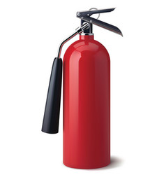 fire extinguisher isolated realistic 3d vector image