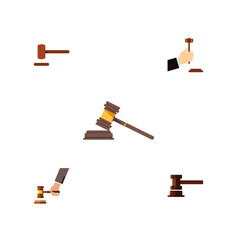 flat icon court set of crime law court and other vector image