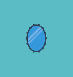 flat icon mirror element of vector image