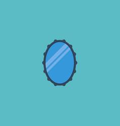 Flat icon mirror element of vector