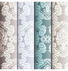 Floral ornament damask patterns vector