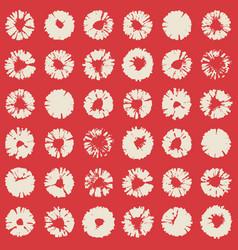 flower stamp texture pattern wallpaper vector image
