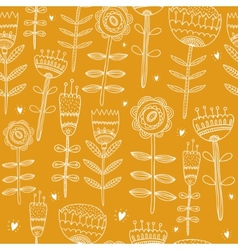 Flower yellow background vector image