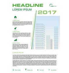 Flyer corporate business annual report brochure vector