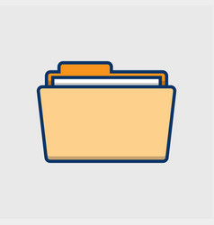 folder icon in flat style vector image
