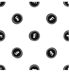 franc coins pattern seamless black vector image