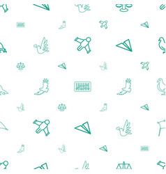 Freedom icons pattern seamless white background vector