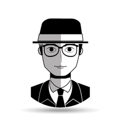 gentleman avatar design vector image