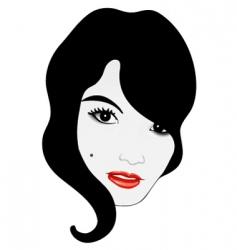 glamor girl face vector image