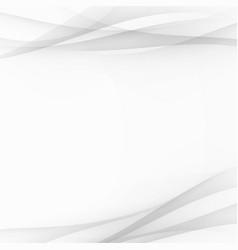 grey futuristic satin swoosh wave lines vector image