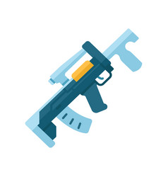 Groza weapon flat design long shadow color icon vector