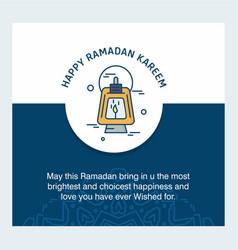 happy ramdan kareem greetings with creative design vector image