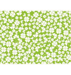Happy st patricks clover seamless pattern vector