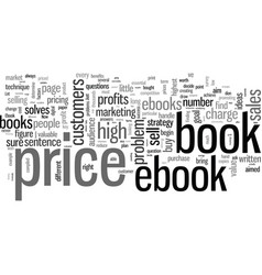 How to market and price your ebook vector