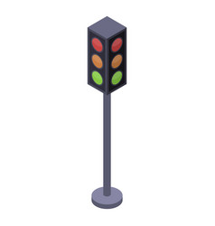 intersection traffic lights icon isometric style vector image