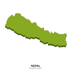Isometric map of Nepal detailed vector image