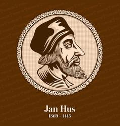 Jan hus was a czech theologian vector