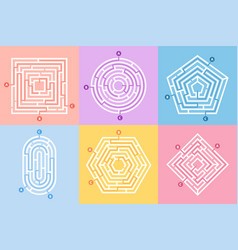 labyrinth game maze conundrum way vector image