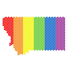 lgbt spectrum dot montana state map vector image