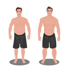 Man before and after sports vector